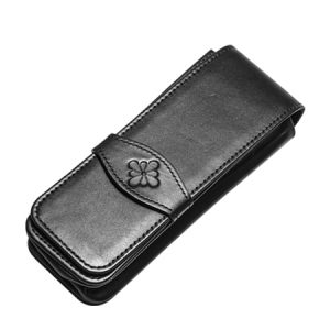 Diplomat Leather Pouch - Black for 3 pens