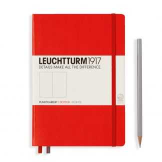Leuchtturm1917 Notebook Medium (A5), Hardcover - Red