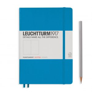 Leuchtturm1917 Notebook Medium (A5), Hardcover - Ice Blue