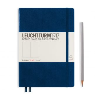 Leuchtturm1917 Notebook Medium (A5), Hardcover - Navy Blue
