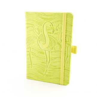Herlitz Notebook Ivory Animals – Green Flamingo, Lined (9 x 14)