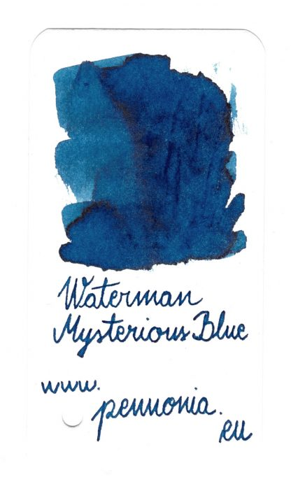 Waterman Mysterious Blue swatch
