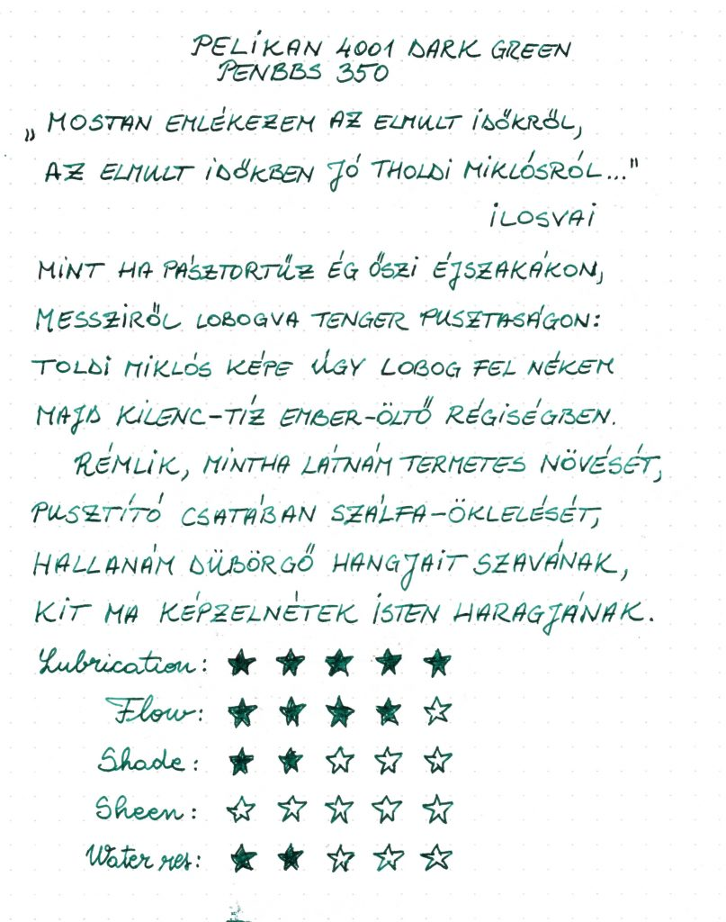 Pelikan 4001 Dark Green - Writing sample 002