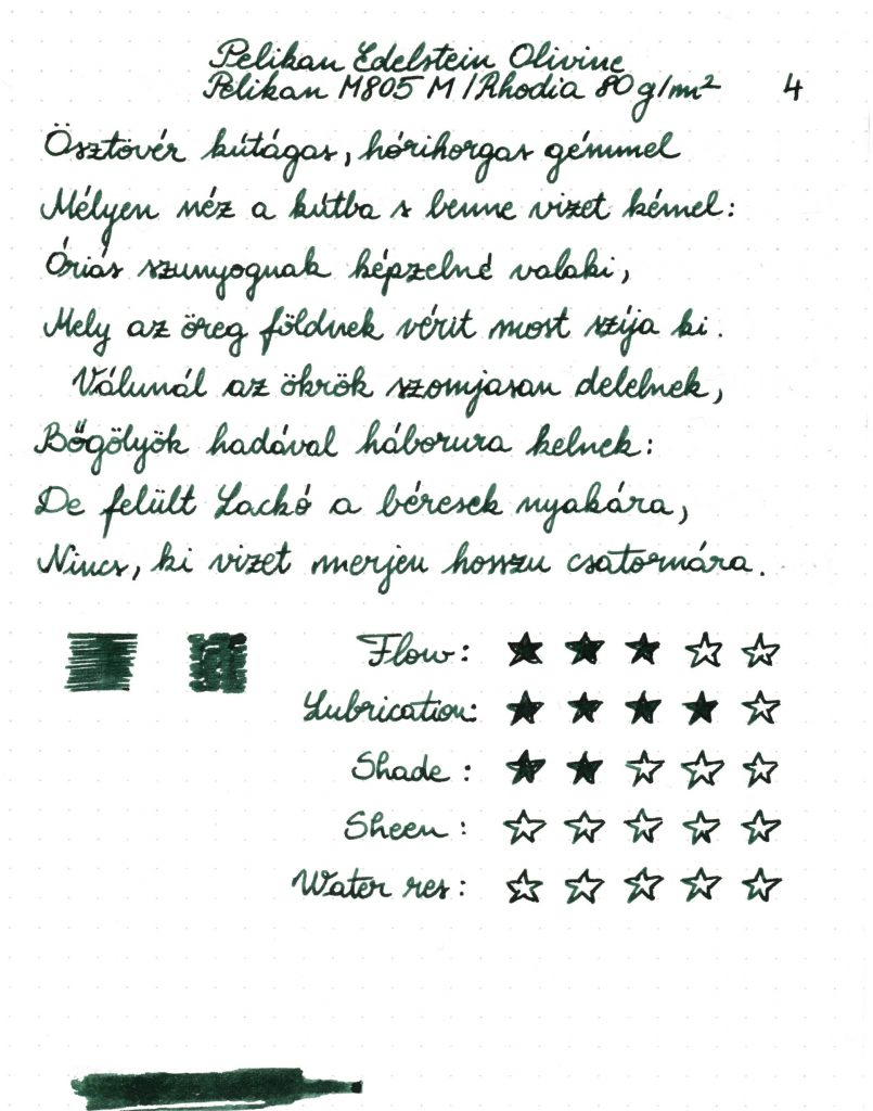 Pelikan Edelstein - Writing sample 001