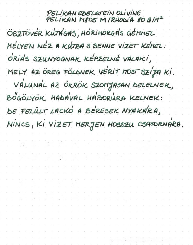 Pelikan Edelstein - Writing sample 002