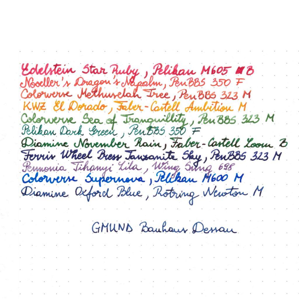 Gmund Bauhaus Dessau gsm Writing Sample