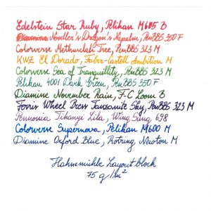 Hahnemuhle Layout 75 gsm Writing Sample