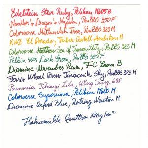 Hahnemuhle Quattro 170 gsm Writing Sample