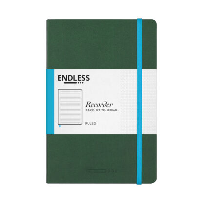 Endless Recorder Green Ruled Front