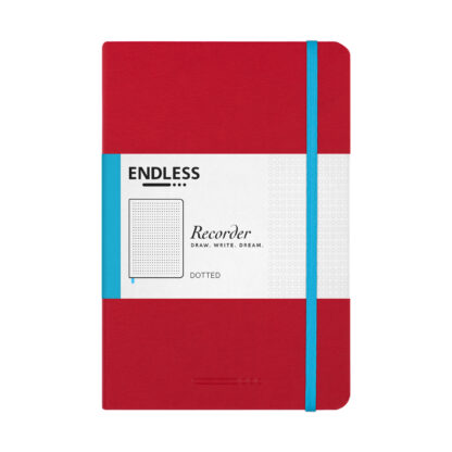 Endless Recorder Red Dotted Front
