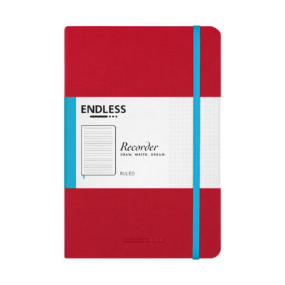 Endless Recorder Red Ruled Front